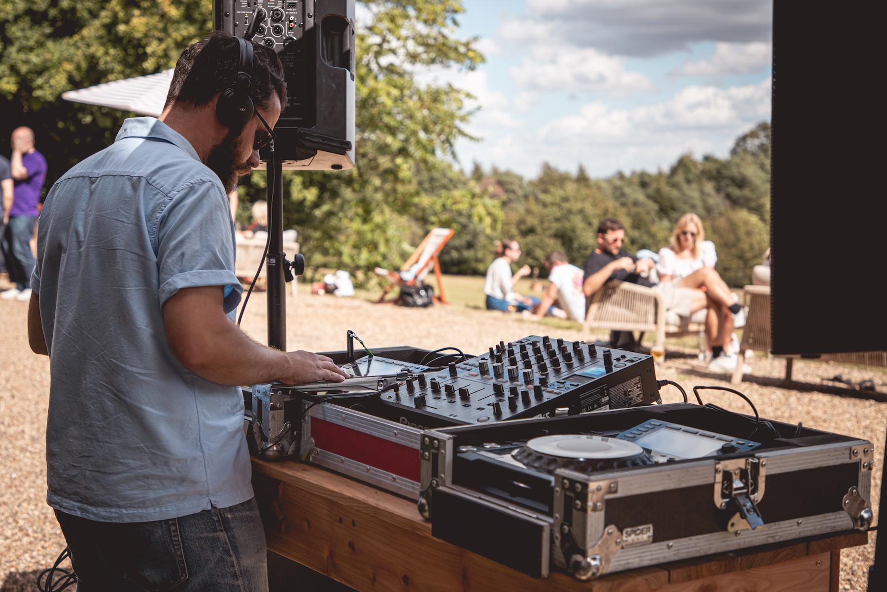 DJ Back terrace